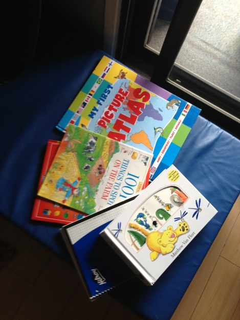 Books on crash mat