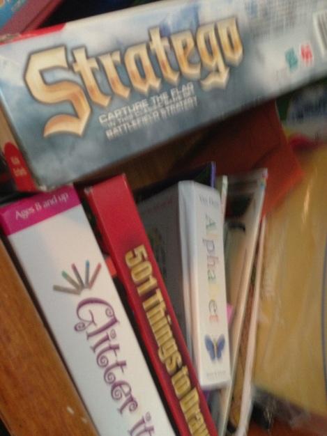Books Under Boardgames