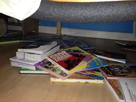 Books Under Cinder Bed