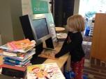 Ender at library